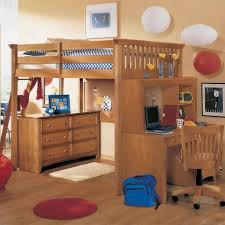 image of fun loft bed with desk underneath
