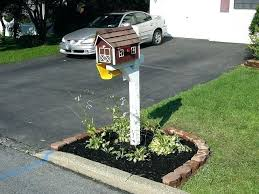 landscaping around mailbox post. Mailbox Landscaping Ideas Landscape Around Soil With Brick Post