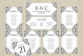 Free Printable Wedding Seating Chart Template 1896