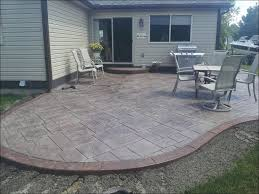 patio design with concrete ideas and stamped designs also furniture outdoor kitchen cement patio designs18