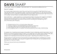 Special Education Cover Letter Examples Teacher Sample Latest