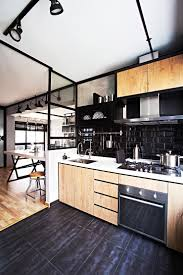 Kitchens For Small Flats This Industrial Hdb Flat Is Edgy Yet Cosy Industrial Small