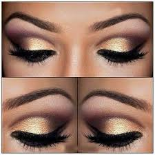 gold bronze eye makeup cat eye makeup