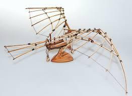 da vinci s flying machine model kit assembled
