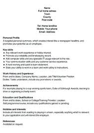 Resume Interests Examples Mwb Online Co