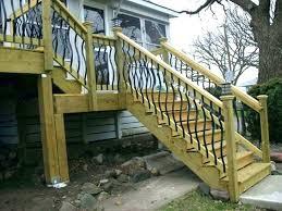 exterior wood railing outdoor wood stair railing