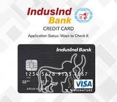 indusind bank credit card status check
