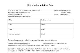 Vehicle Bill Of Sale Templates Automobile Bill Of Sale Template