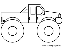 Easy Monster Truck Coloring Page With Very Easy Monster Truck