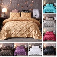 details about new solid color duvet cover bedding set pillowcase twin full queen king