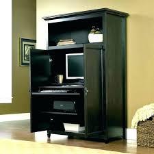 atlas oak hidden home office. Hidden Office Desk Computer Desks With Doors Pocket Atlas Oak Home U