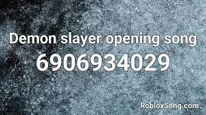 demon slayer opening song roblox id