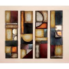 wall art ideas design square shaped large huge wall art decor sets tremendous abstract geometric colorful interior decorative high quality materials wall