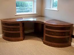 home office desk corner. Bespoke Home Office Corner Desk In Walnut For Dovetailors Within Plan 11 F