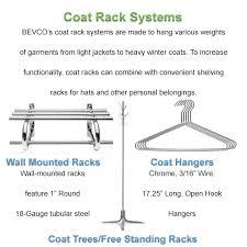 Coat Rack Systems Custom Bevco Coat Rack Systems Q Source Inc