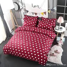 hearts bedding sets whole love heart red bedding set white hearts duvet cover bed set single
