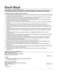 resume for academic advisor