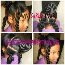 Natural Hairstyles Ponytails Natural Jazzy Ponytail Hairstyle For Girls Youtube