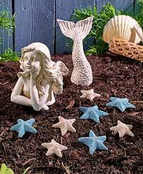 coastal garden decor mermaid statues