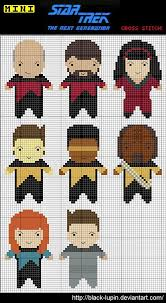 Cross Stitch Chart Generator Saturday Crafternoon Geek Love Star Trek Cross Stitch