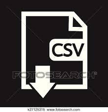 ファイル タイプ Csv アイコン クリップアート切り張りイラスト絵画集