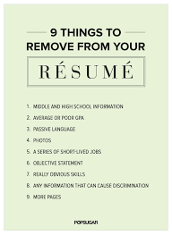9 Things to Remove From Your Rsum Right Now | Face paintings, Resume help  and Life hacks