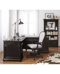 L shaped desks for home office Industrial Looking Office Main Image Macys Furniture Clinton Hill Ebony Home Office Lshaped Desk Created For