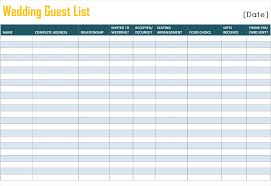 contact spreadsheet template printable wedding guest list template for word and excel