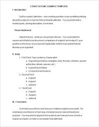 outline templates word excel pdf formats blank general essay outline template