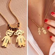 kids boy girl engraved charms pendant