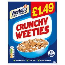 Cereal's unlikely collaboration with heinz prompts a weetabix's twitter account landed themselves in hot water with new campaign. Weetabix Crunchy Weeties Cereal 400g Pmp 1 49 Bestway Wholesale