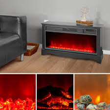 details about stylish electric fireplace low profile black vent free cool touch exterior cabby