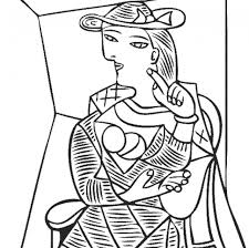 Small Picture Adult Coloring Pages Picasso with regard to Pablo Picasso Coloring