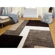 home dynamix bazaar zag dark brown 5 ft x 7 ft indoor area rug
