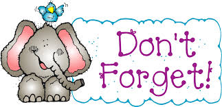 Image result for don't forget clipart