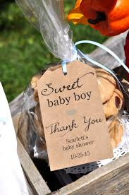 Rustic Baby Shower Favor Tags (Sweet Baby Boy) - Thank You Tags - Kraft