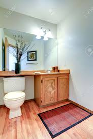 Hardwood Floor Bathroom Bathroom Vanity Cabinet With Counter Top And Mirror New Hardwood