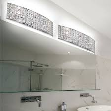 bathroom crystal vanity light on a budget fancy inside interior 8