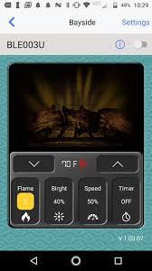 bayside fireplace bluetooth app الملصق