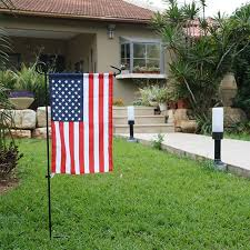 garden pole. Garden Flags Pole Mini Iron Flag Stand Holder For Yard Decorative Display Flying Metal
