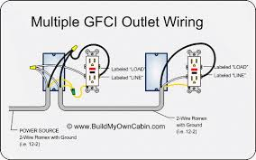 multiple gfci outlet wiring diy electric search we re remodeling our bathroom and were simply looking to switch out 20 year old light almond outlets and light switches for white