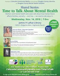 watch time to talk public forum on mental health and families