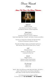 New Year Menu Donna Carmela New Year Eve Dinner Menu 2013