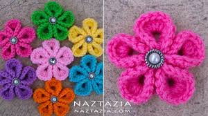 Crochet Flowers New Design Diy Tutorial How To Crochet Kanzashi Flower Flowers Of Japan