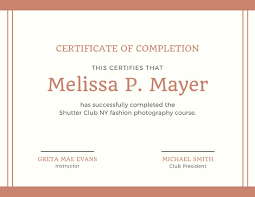 Completion Certificates Yellow With Photo Completion Certificate Templates By Canva