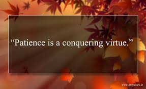 Patience Is A Conquering Virtue Quotes