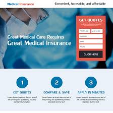 great cal insurance landing page with small lead magnet form for capturing effective leads health insurance