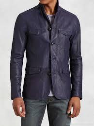 jackets men s t leather officer s jacket by john varvatos ow231m09ez royal purple