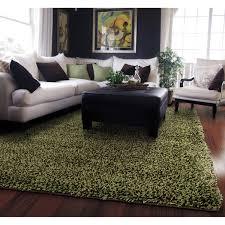 carpet 5x8. manhattan tweed green/ brown shag rug (5\u0027 x 8\u0027) - overstock carpet 5x8 \