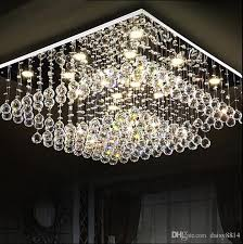 modern square crystal chandeliers led light re living room lighting ac110 240v ceiling crystal lamp bottle chandelier chihuly chandelier from daisy8814